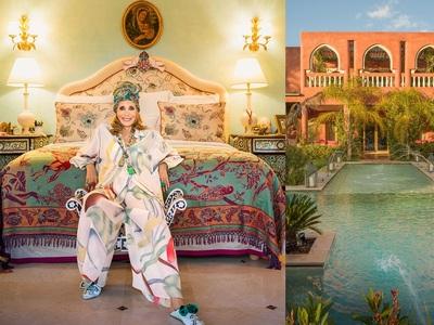 Στο παραδεισένιο riad της καλλονής των seventies Μαρίζα Μπερενσόν στο Μαρακές