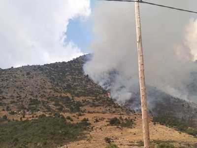 Σε ύφεση η φωτιά στο Λεχούρι Καλαβρύτων - Βοήθησε και η βροχή - ΦΩΤΟ