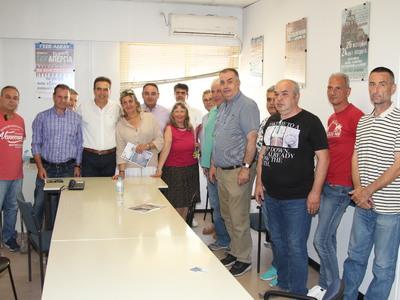 Ο Γιώργος Κουτρουμάνης επισκέφθηκε  το Πανεπιστημιακό Νοσοκομείο και τον «Άγιο Ανδρέα»