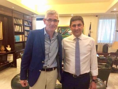 Ο Άγγελος Τσιγκρής σε σύσκεψη με τον Υφυπουργό Αθλητισμού για τους Μεσογειακούς Αγώνες