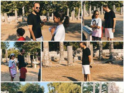 Family times στην Αρχαία Ολυμπία για τον...