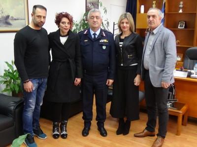 Ο πρόεδρος πολιτικού προσωπικού της Ελληνικής Αστυνομίας & της Πυροσβεστικής στον Απόστολο Μαρτζάκλη