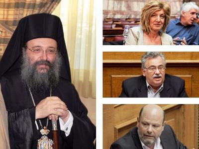 Οι τρεις βουλευτές του ΣΥΡΙΖΑ κατά του Μητροπολίτη Πατρών – Τον κατηγορούν για ευθεία πολιτική παρέμβαση