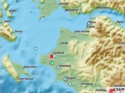 4,1 ρίχτερ στην Ηλεία - Αισθητός ο σεισμός σε Πάτρα και Δυτική Ελλάδα