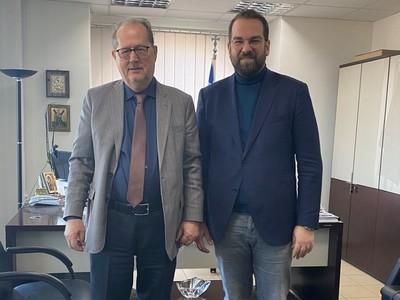 Με τον Περιφερειάρχη Πελοποννήσου Π. Νίκα συναντήθηκε ο Νεκτάριος Φαρμάκης