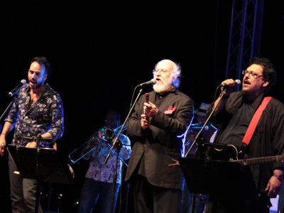 Συναυλία Γκαγκαντίν Δ. Σαββόπουλος Λ. Μαχαιρίτσας Π. Μουζουράκης στο λιμάνι Κατακόλου (11/07/2014) (EUROKINISSI/Γιάννης Σπυρούνης / ilialive.gr)