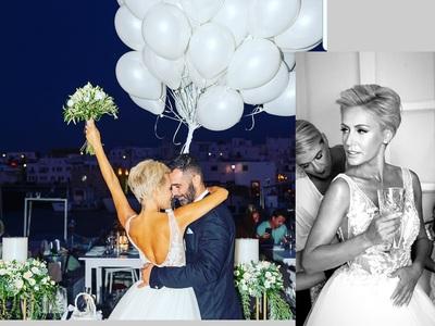 Η Φωτεινή Τσαβαλά ντύθηκε νύφη στην Πάρο και ήταν ωραιότερη από ποτέ!