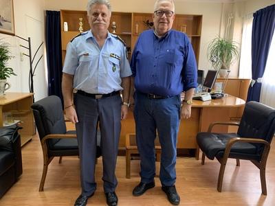 Εθιμοτυπική επίσκεψη από τον Πρόεδρο των Ναυτικών Πρακτόρων στο νέο Περιφερειακό Αστυνομικό Διευθυντή