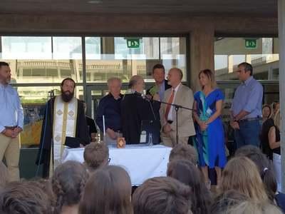 Για τον σχολικό εκφοβισμό μίλησε ο Χ. Μπονάνος στον αγιασμό στο Αρσάκειο στο Πλατάνι