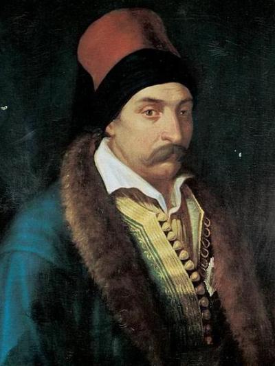 Ο Ανδρέας Ζαΐμης, ήταν μεταξύ αυτών που σήκωσαν το λάβαρο της επανάστασης στην Αγία Λαύρα
