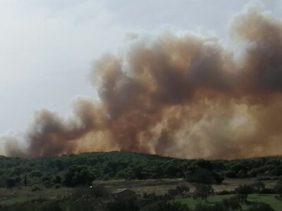 Ζάκυνθος: Μεγάλη φωτιά κοντά στον Άγιο Γ...