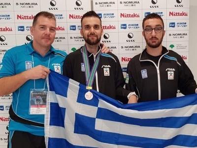 Μετάλλιο για την Ελλάδα στο ευρωπαϊκό πρωτάθλημα ΑΜΕΑ πινγκ πονγκ