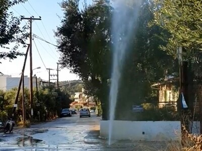 Πάτρα: Έσπασε σωλήνας νερού στην Εγλυκάδ...