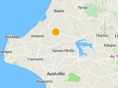 Στην Ανδραβίδα το επίκεντρο του σεισμού μεγέθους 3,6 ρίχτερ λίγα λεπτά μετά τη 1 τα ξημερώματα