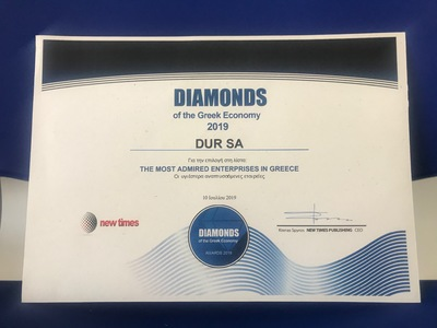 Η DUR στα Διαμάντια της Ελληνικής Οικονομίας για το 2019