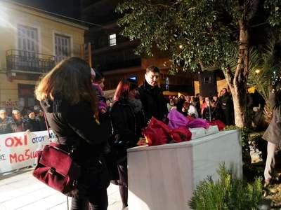Σε εξέλιξη πορεία στο κέντρο της Πάτρας για τον Νίκο Τεμπονέρα
