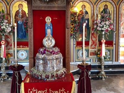 Με μεγαλοπρέπεια τιμήθηκε η επέτειος επανακομιδής της Κάρας της Αγ. Ειρήνης στην Πάτρα