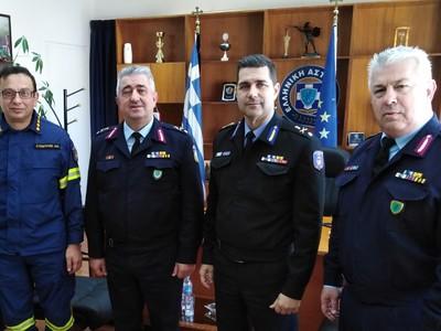 Επίσκεψη των επικεφαλής της Πυροσβεστικής στο Αστυνομικό Μέγαρο της Πάτρας