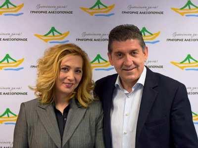 Η Χρυσάνθη Κολοκυθά υποψήφια με τον Γρηγόρη Αλεξόπουλο