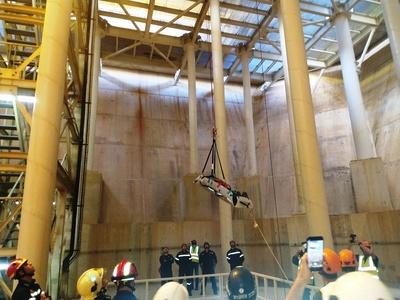 ΑΣΚΗΣΗ: Διάσωση τραυματία από πυλώνες της Γέφυρας - ΦΩΤΟ