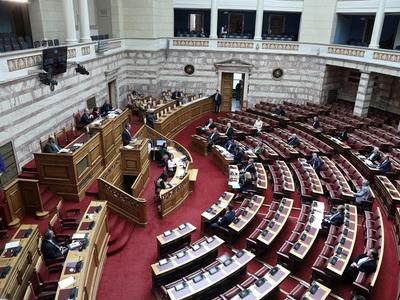 """""""Όχι"""" από τη Βουλή στην άρση ασυλίας 54 βουλευτών ΣΥΡΙΖΑ για τη Συμφωνία Πρεσπών"""