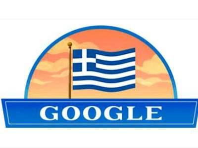 Αφιερωμένο στην 25η Μαρτίου  το doodle της Google