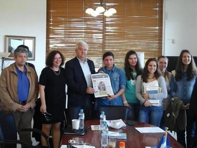 Δυτική Ελλάδα:Τους Μαθητές της Β΄ τάξης του ΓΕΛ Κ. Αχαΐας δέχτηκε στο γραφείο του ο Δήμαρχος