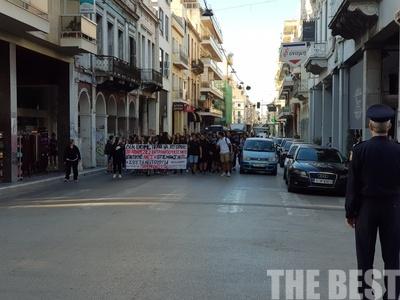 Πορεία μαθητών του πειραματικού λυκείου Λάγγουρα στην Πάτρα