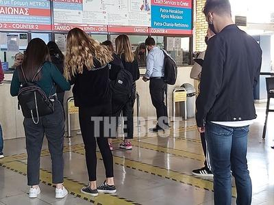 Οι φοιτητές τρέχουν να προλάβουν να φύγουν από την Πάτρα, πριν το lockdown