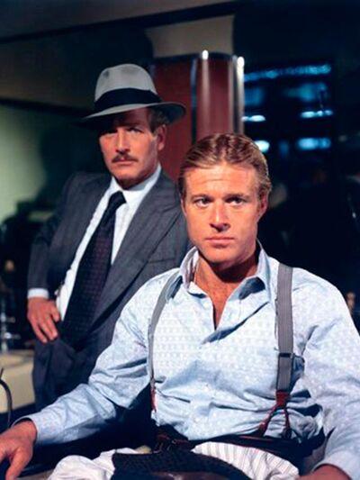 O Robert Redford με τον Paul Newman που ...