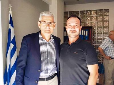 Συνάντηση Τσιγκρή με τον πρόεδρο της Πανελλήνιας Ομοσπονδίας Εξωτερικών Φρουρών Καταστημάτων Κράτησης