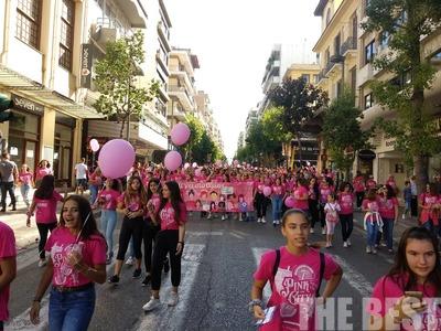 «Ροζ ποτάμι» στους δρόμους της Πάτρας! Περίπατος ελπίδας και αγάπης!