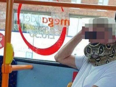 Βρετανία: Φόρεσε ένα… φίδι αντί για μάσκ...