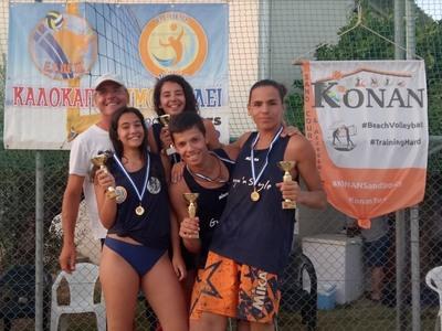 Πατρινοί Πρωταθλητές Πελοποννήσου Beach Volley (ΦΩΤΟ)