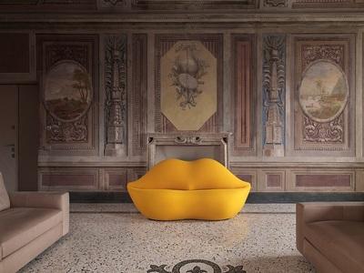 Lips Sofa: Ο πιο «σουρεάλ» καναπές των s...