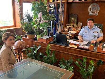 Συνάντηση Χριστίνας Αλεξοπούλου με τον Αρχηγό της Ελληνικής Αστυνομίας