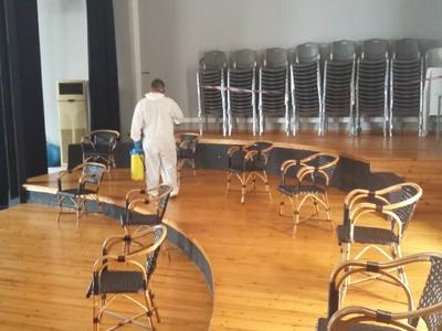 Απολυμάνθηκαν οι χώροι διοίκησης και της δραματικής σχολής του ΔΗΠΕΘΕ Πάτρας