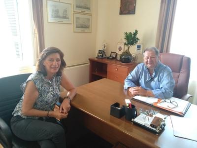 Συναντήσεις με την Παναγούλα Μαμμή και τον Διοικητή του Λιμενικού για τον Δ. Καλογερόπουλο