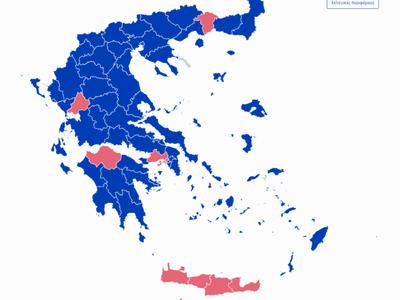 ΑΥΤΟΣ είναι ο νέος εκλογικός χάρτης της Ελλάδας- Έμεινε «ροζ» η Αχαΐα