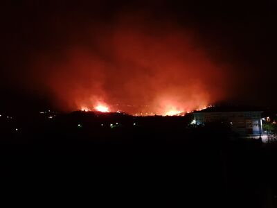 ΠΑΤΡΑ Φωτιά - Συχαινά - Δραματική έκκλησ...