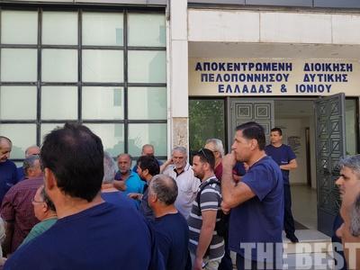 Διαμαρτυρία 91 εργαζόμενων της Frigoglass στην Αποκεντρωμένη για το λουκέτο στο εργοστάσιο της Κ. Αχαΐας