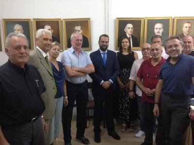 O Νεκτάριος Φαρμάκης στα γραφεία του ΣΕΒ Πελοποννήσου και Δυτικής Ελλάδας