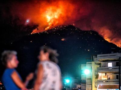 Σε ύφεση η πυρκαγιά στο Χρυσοβίτσι Αρκαδίας