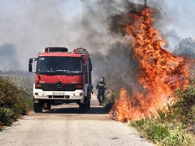 Μεγάλη φωτιά στον Δήμο Ερύμανθου – Επί τόπου η Πυροσβεστική