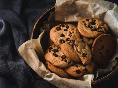 Cookies με σταγόνες σοκολάτας χωρίς γλουτένη
