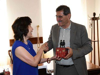 Toν Κώστα Πελετίδη επισκέφθηκε η πρέσβης της Κίνας στην Ελλάδα