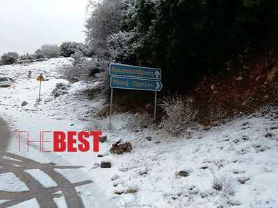 Πάτρα: Το έστρωσε το χιόνι στον Ομπλό – Χιονίζει σε Καλλιθέα, Πουρναρόκαστρο και Ελεκίστρα – ΔΕΙΤΕ ΦΩΤΟ