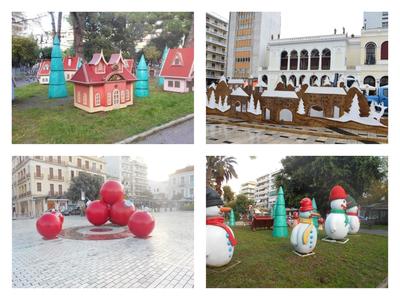 Οι χριστουγεννιάτικες κατασκευές της Πάτρας και οι εντυπωσιακές μπάλες της Τριών Συμμάχων-ΦΩΤΟ