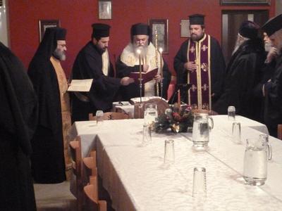 Ο Μητροπολίτης Ιερώνυμος ευλόγησε την Πρωτοχρονιάτικη Βασιλόπιτα στην Αιγείρα