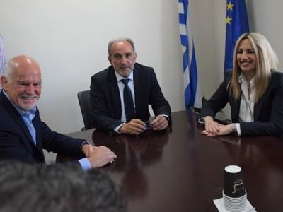 Στην Περιφέρεια Δυτικής Ελλάδας  Φώφη Γεννηματά και Γιώργος Παπανδρέου